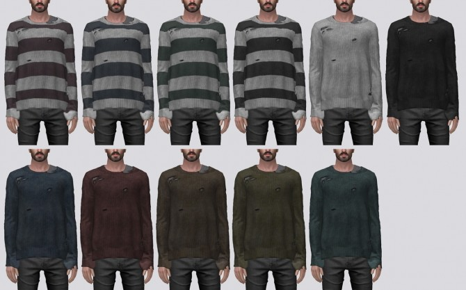 Ripped Knit Sweater at Darte77 image 2674 670x417 Sims 4 Updates