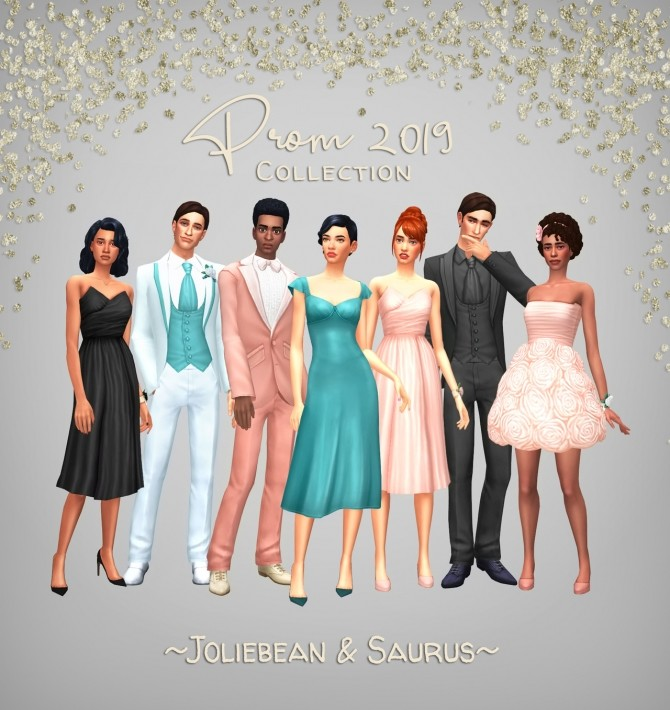 Prom 2019 Collection at Saurus Sims » Sims 4 Updates