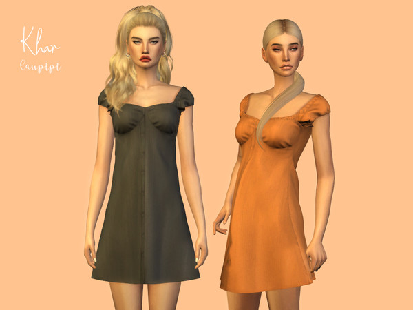 Khar cozy short dress by laupipi at TSR image 2715 Sims 4 Updates