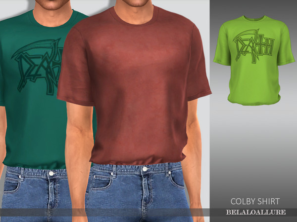 Sims 4 Belaloallure Colby shirt by belal1997 at TSR