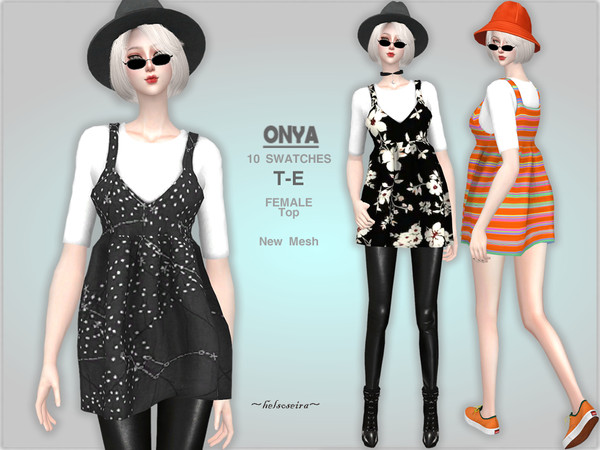 Sims 4 ONYA Overalls Top by Helsoseira at TSR