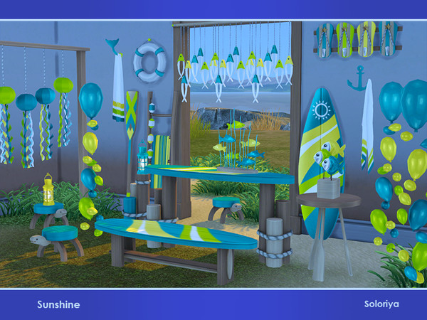 Sunshine set of summer furniture and decorative objects by soloriya at TSR image 2820 Sims 4 Updates