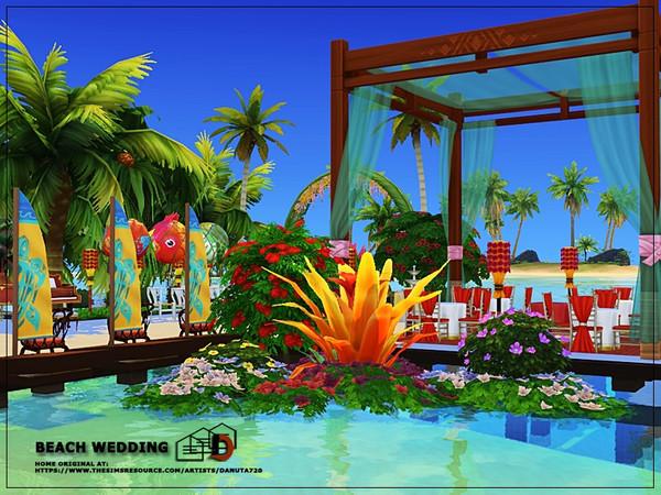 Beach wedding venue by Danuta720 at TSR image 2824 Sims 4 Updates