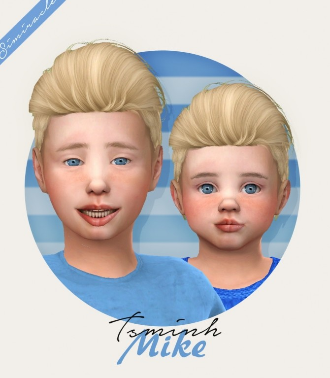Sims 4 Tsminh Sims Mike hair for kids and toddlers at Simiracle
