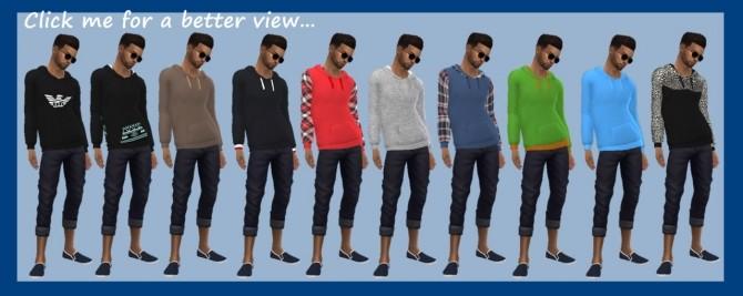 BASE GAME LONG HOODIES M at Sims4Sue image 2834 670x267 Sims 4 Updates