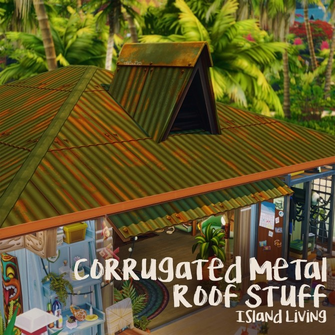CORRUGATED METAL ROOF STUFF at Picture Amoebae image 2852 670x670 Sims 4 Updates