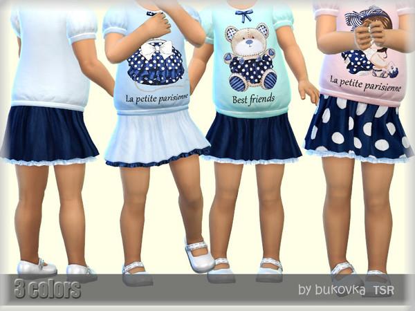 Sims 4 Skirt Parisian by bukovka at TSR