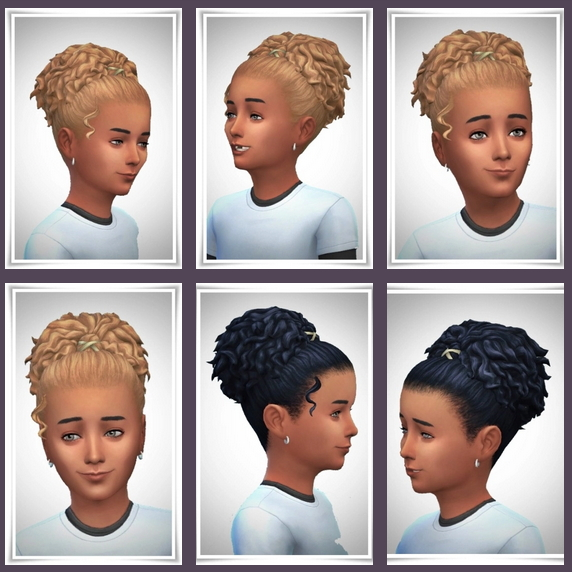 Sims 4 Alice UpDo Curls hair at Birksches Sims Blog