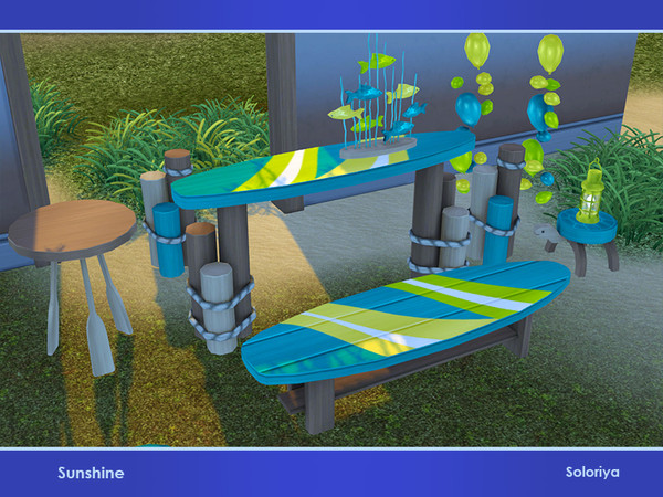 Sunshine set of summer furniture and decorative objects by soloriya at TSR image 2918 Sims 4 Updates