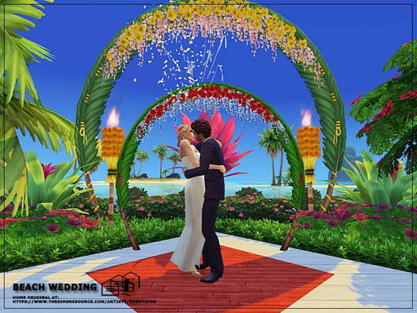 Beach wedding venue by Danuta720 at TSR image 2920 Sims 4 Updates