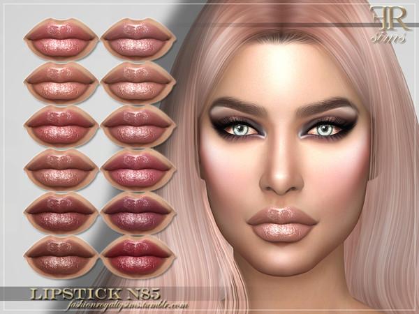 Sims 4 FRS Lipstick N85 by FashionRoyaltySims at TSR