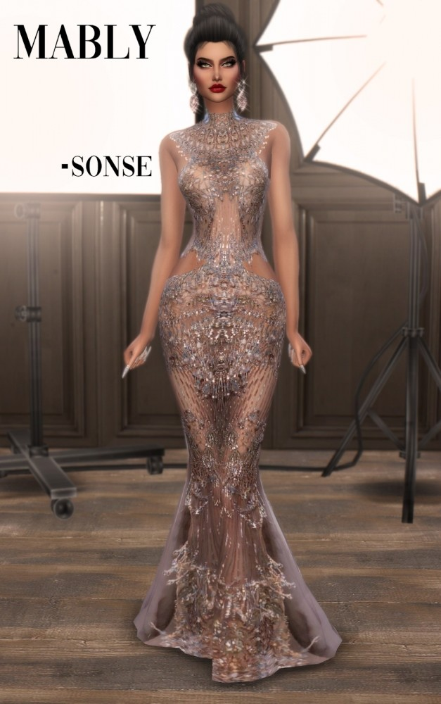 SONSE gown at Mably Store image 2982 627x1000 Sims 4 Updates