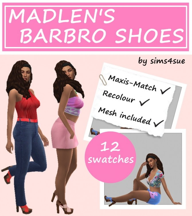 MADLEN'S BARBRO SHOES RECOLOUR at Sims4Sue image 3002 670x754 Sims 4 Updates