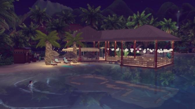Sims 4 Lagoon Look beach bar at Simming With Mary