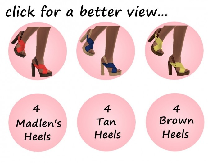 MADLEN'S BARBRO SHOES RECOLOUR at Sims4Sue image 30110 670x528 Sims 4 Updates