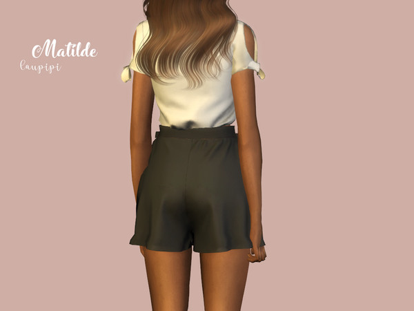 Matilde high waisted shorts by laupipi at TSR image 3013 Sims 4 Updates