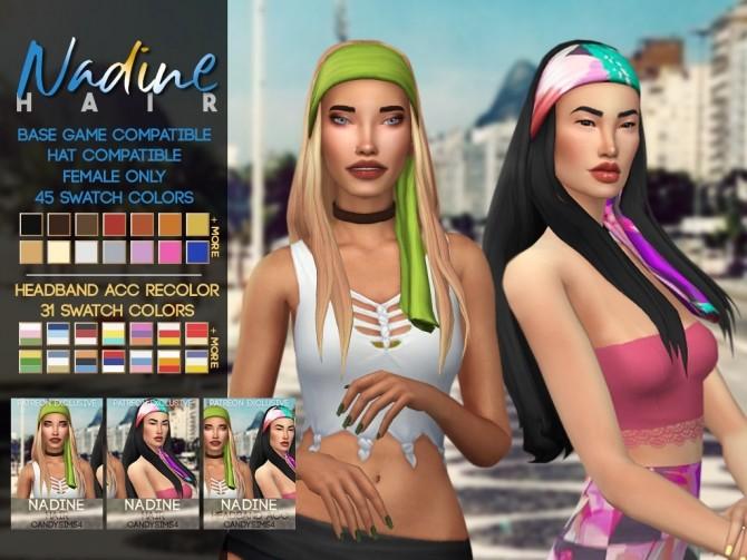 Sims 4 NADINE HAIR at Candy Sims 4