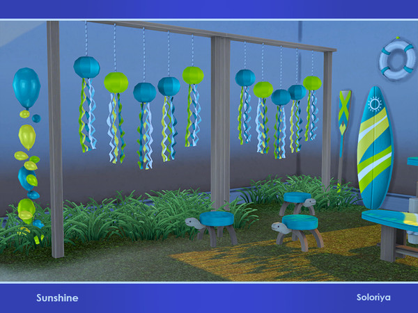 Sunshine set of summer furniture and decorative objects by soloriya at TSR image 3019 Sims 4 Updates