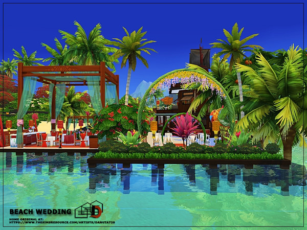 Beach wedding venue by Danuta720 at TSR image 3022 Sims 4 Updates