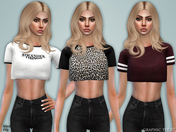Sims 4 Graphic Tee 07 by Black Lily at TSR