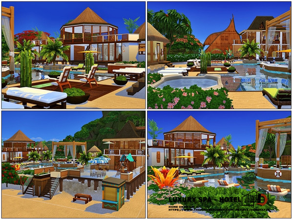 Sims 4 Luxury SPA Hotel by Danuta720 at TSR