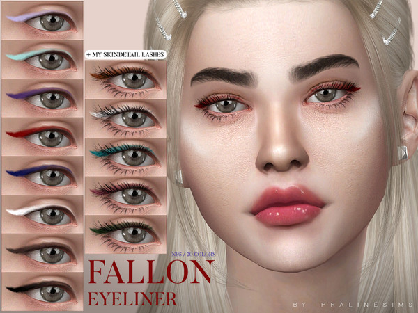 Fallon Eyeliner N95 by Pralinesims at TSR image 3111 Sims 4 Updates