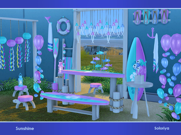 Sunshine set of summer furniture and decorative objects by soloriya at TSR image 3119 Sims 4 Updates