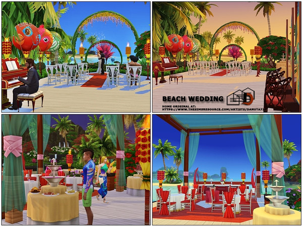 Beach wedding venue by Danuta720 at TSR image 3120 Sims 4 Updates