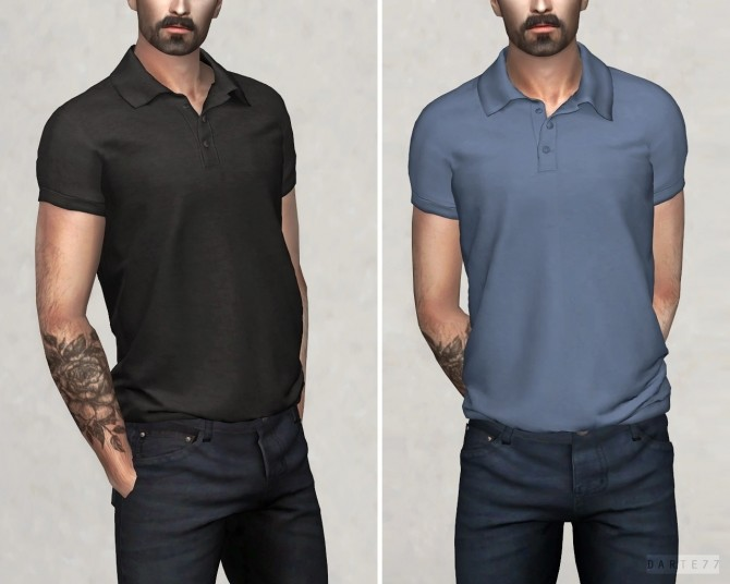 Polo Shirt at Darte77 image 3122 670x536 Sims 4 Updates
