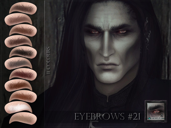 Sims 4 Eyebrows 21 by RemusSirion at TSR
