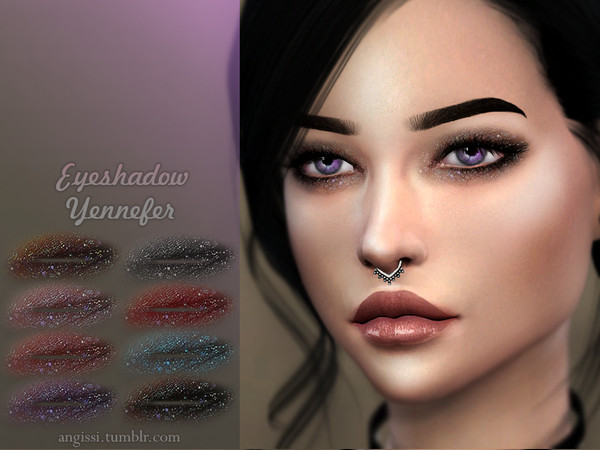 Sims 4 Yennefer eyeshadow by ANGISSI at TSR