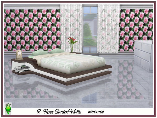 Rose Garden Walls by marcorse at TSR image 3128 Sims 4 Updates