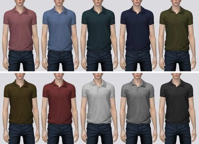 Polo Shirt at Darte77 image 3132 670x488 Sims 4 Updates