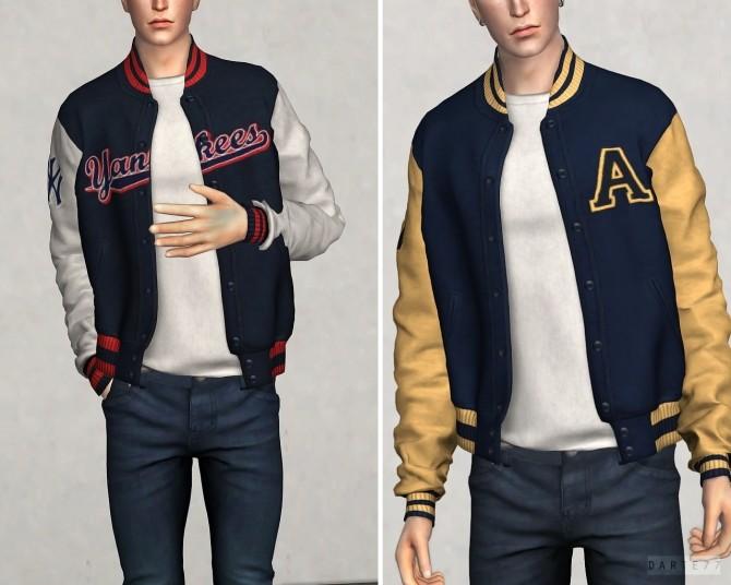Sims 4 High School Bomber Jacket (P) at Darte77