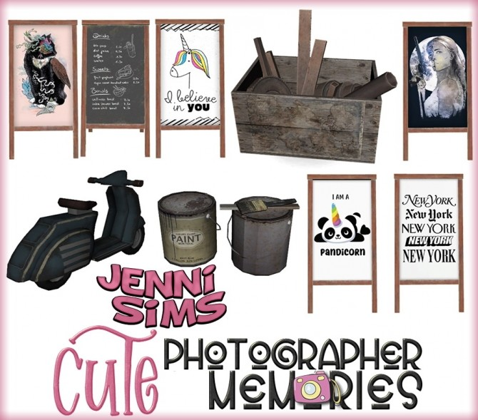 Sims 4 Photographer Memories set Clutter 4 items at Jenni Sims