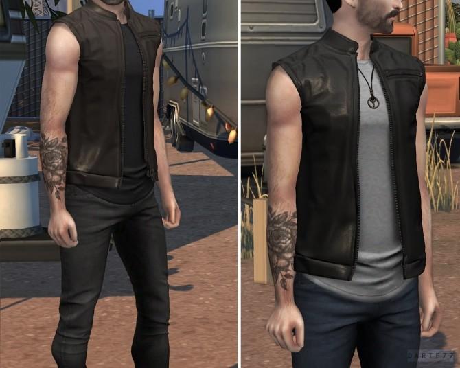 Leather Vest (P) at Darte77 image 31911 670x536 Sims 4 Updates