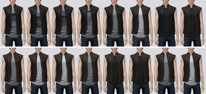 Leather Vest (P) at Darte77 image 3202 670x307 Sims 4 Updates