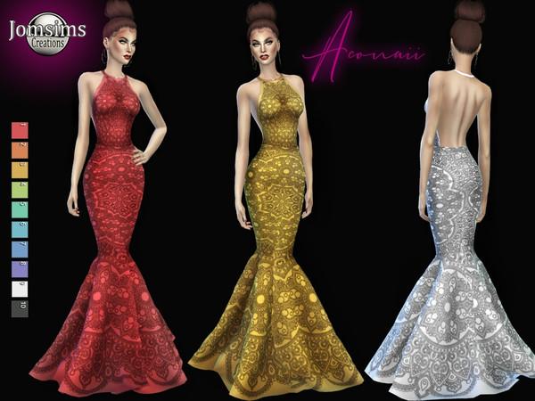 Aconaii dress by jomsims at TSR image 3212 Sims 4 Updates