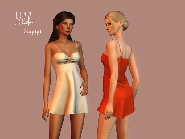 Hilda dress by laupipi at TSR image 3217 Sims 4 Updates