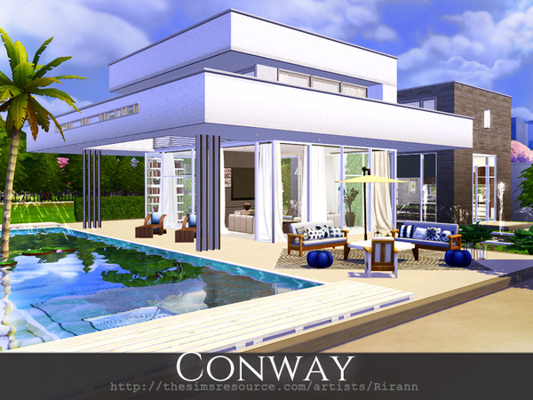 Conway contemporary house by Rirann at TSR image 33 Sims 4 Updates