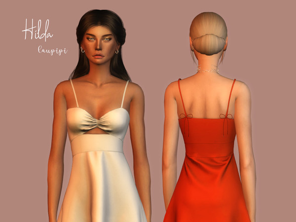 Hilda dress by laupipi at TSR image 3317 Sims 4 Updates