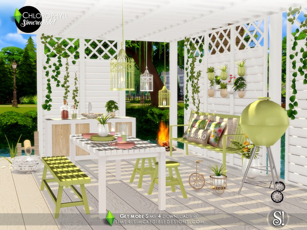 Chlorophyll Dining area by SIMcredible at TSR image 3318 Sims 4 Updates