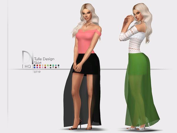 Sims 4 Tulle Design Skirt by DarkNighTt at TSR