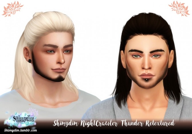 Sims 4 NightCrawler Thunder Hair Retexture Naturals + Unnaturals at Shimydim Sims