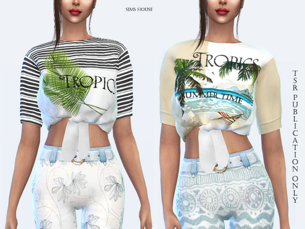 Sims 4 Tropics womens T shirt by Sims House at TSR