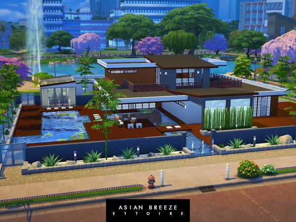Sims 4 Asian Breeze villa by Ettoire at TSR