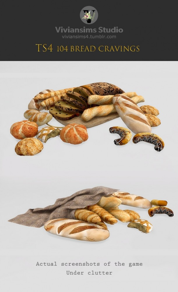 Sims 4 Bread And Table (P) at Viviansims Studio