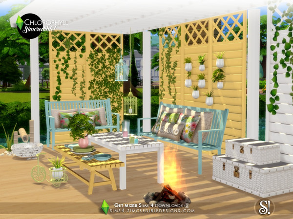 Chlorophyll colorful outdoor set by SIMcredible at TSR image 3417 Sims 4 Updates