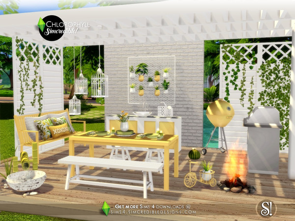 Chlorophyll Dining area by SIMcredible at TSR image 3418 Sims 4 Updates