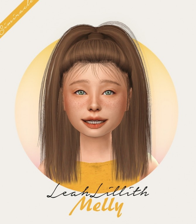 LeahLillith Melly Hair Kids Version at Simiracle image 347 670x767 Sims 4 Updates